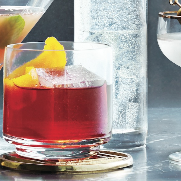 negroni cocktail with a twist of orange
