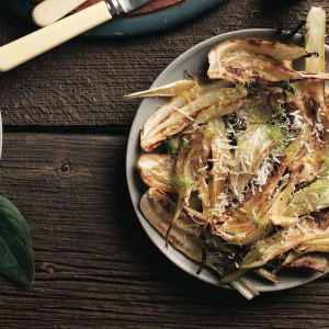 Roasted fennel with parmesan-lemon vinaigrette