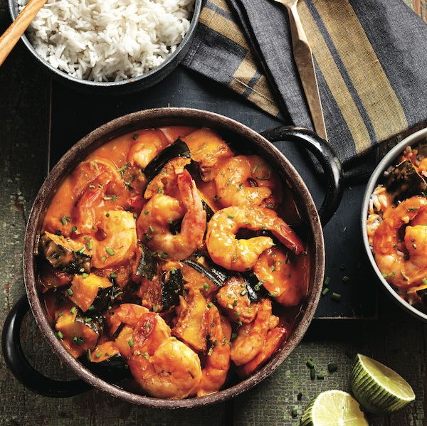 Shrimp and squash curry