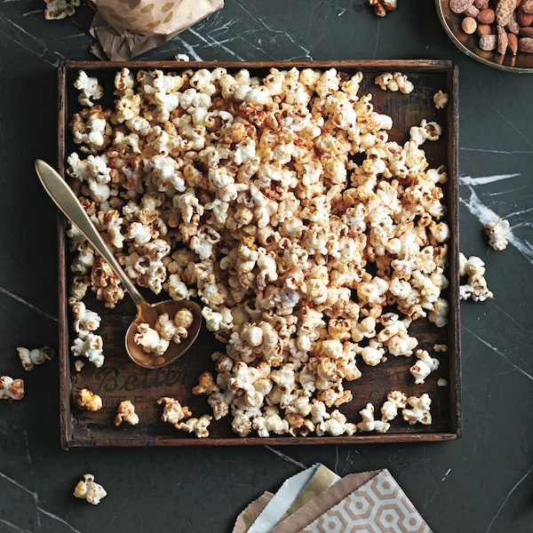 Cocktail party snacks: Sweet and smoky kettle corn