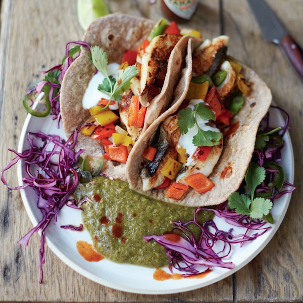 Jamie Oliver's fish tacos