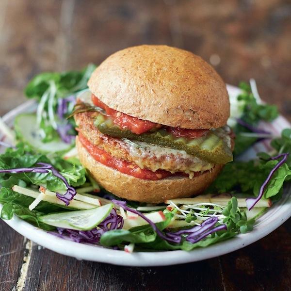 Jamie Oliver's mega veggie burgers
