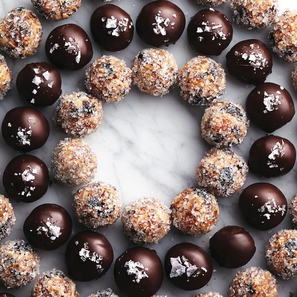 No-bake Christmas dessert: Chestnut Marzipan Rum Balls