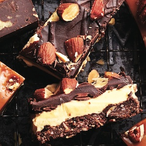 Salted-almond nanaimo bars