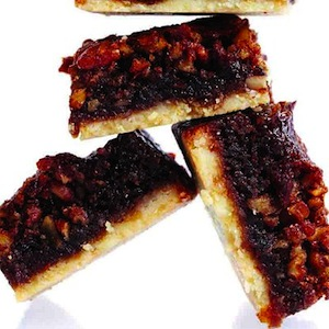 Sticky toffee shortbread bar