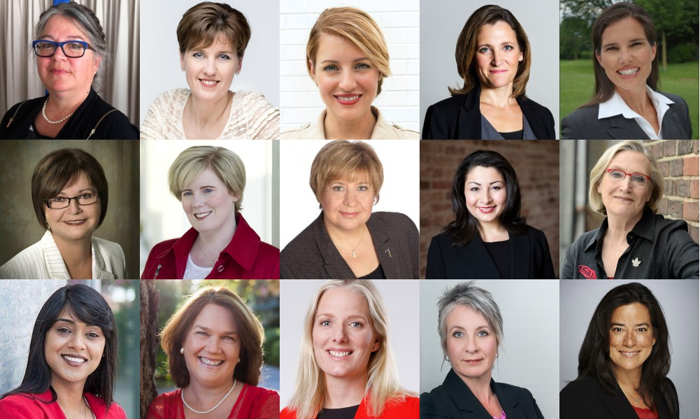 The Liberal Party of Canada named 15 women to its cabinet.