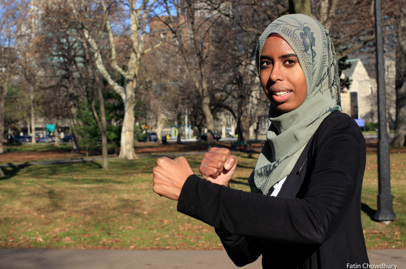 Muslim Wen-Do women's self-defence instructor Arij Elmi in Toronto. Photo: Fatin Chowdhury