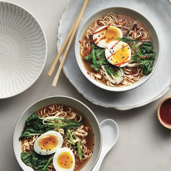 Gingery ramen with eggs