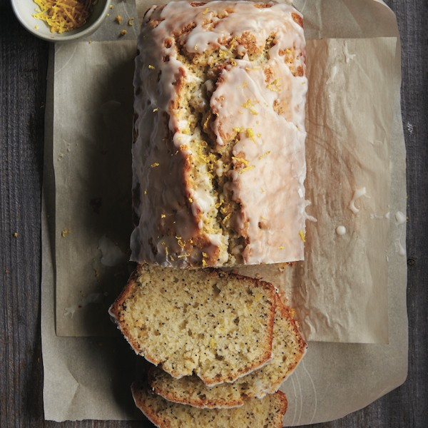 Glazed lemon poppyseed loaf