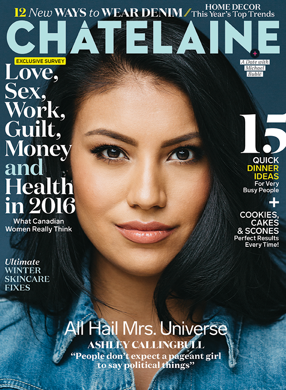 Ashley Callingbull January 2016 Chatelaine cover