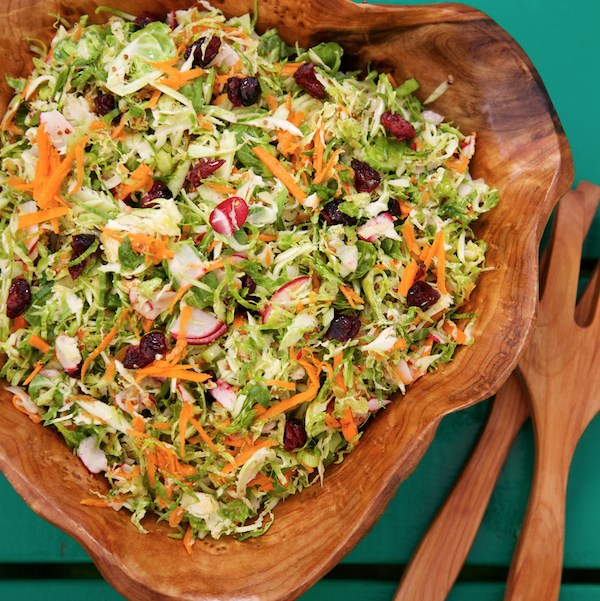 Maple brussels sprouts slaw