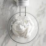 Whipped egg whites for lamingtons