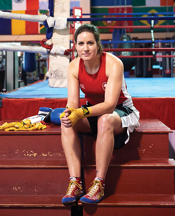 Boxer Mary Spencer. Photo, Sian Richards. HAIR & MAKEUP, MICHELLE ROSEN FOR MAC COSMETICS/JUDYINC.COM.