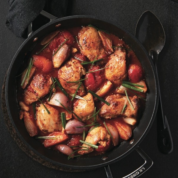 Braising recipes: Braised chicken and tomato stew