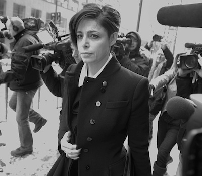 TORONTO, ON - FEBRUARY 26:   Criminal defense lawyer for Jian Ghomshi Marie Henein leaves College Park Court.        (Chris So/Toronto Star via Getty Images)