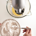 Mixing the ingredients for the cinnamon twist bread recipe