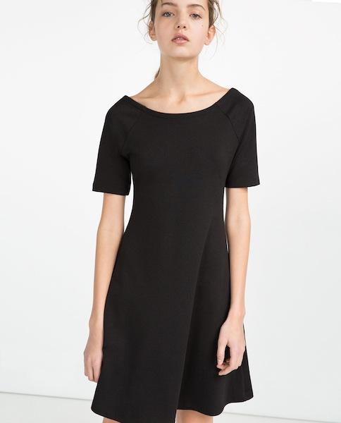10 ways to update your little black dress for spring for Zara black t shirt dress