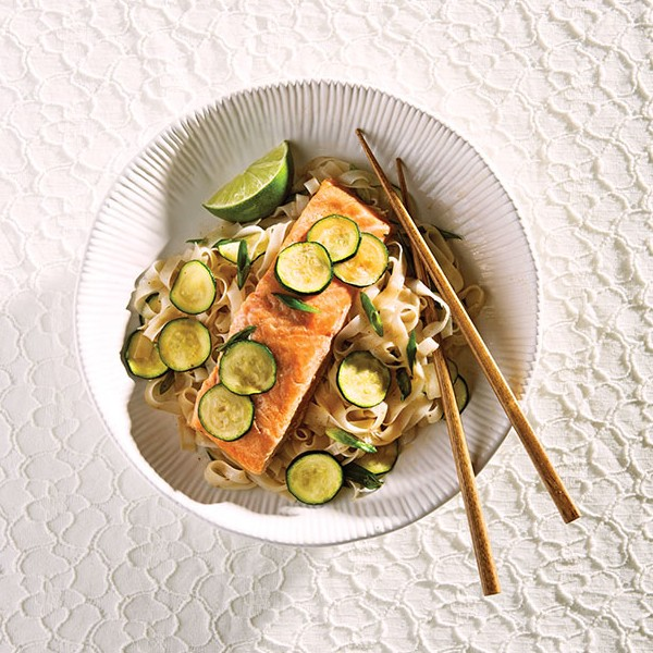 Grilled Trout and Noodles