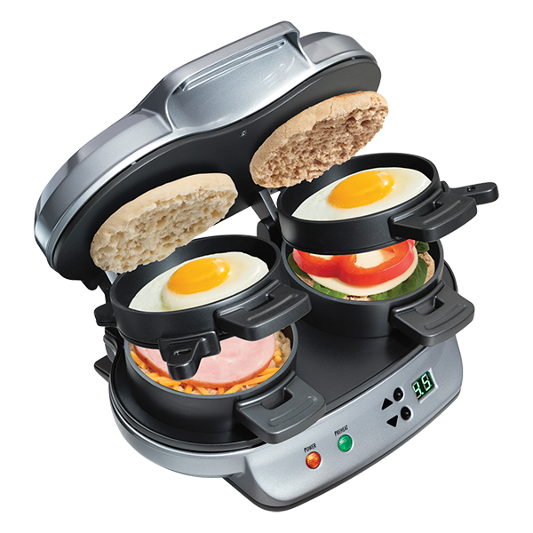 1 Hamilton Beach Dual Breakfast Sandwich Maker 60