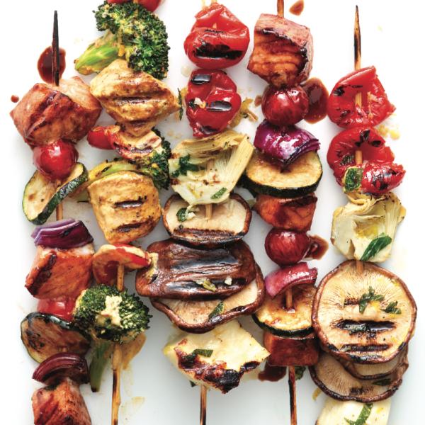 Greek antipasto kebab