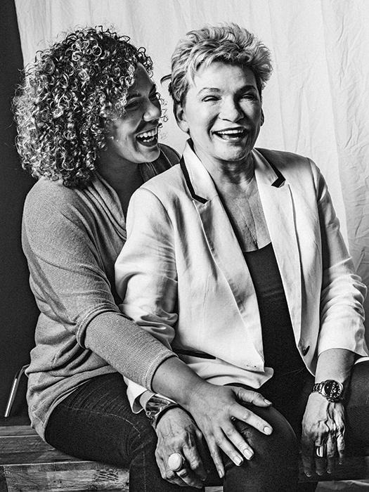 Nova Browning Rutherford (36) and Diane Browning (60). Photo, Shlomi Amiga.