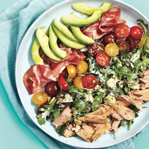 Modern tuna-cobb salad