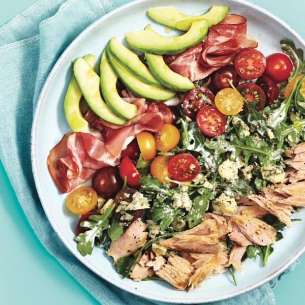 Modern tuna-cobb salad