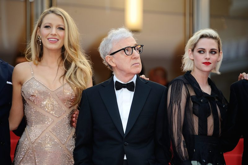 Blake Lively, Woody Allen and Kristen Stewart attending the screening of 'Cafe Society' and the opening ceremony at the Palais Des Festivals in Cannes, France on May 11, 2016, as part of the 69th Cannes Film Festival. Photo by Aurore Marechal/ABACAPRESS.COM