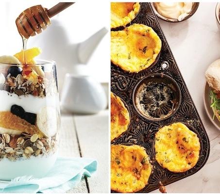 Double breakfast- meusli and mini quiches