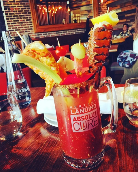 12 over the top brunch caesars for Canada Day weekend