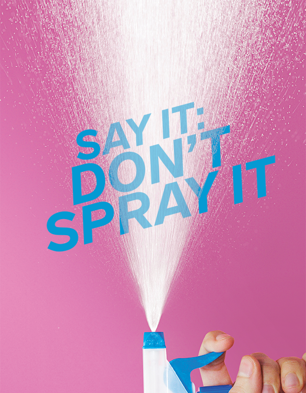 Douching - say it don't spray it