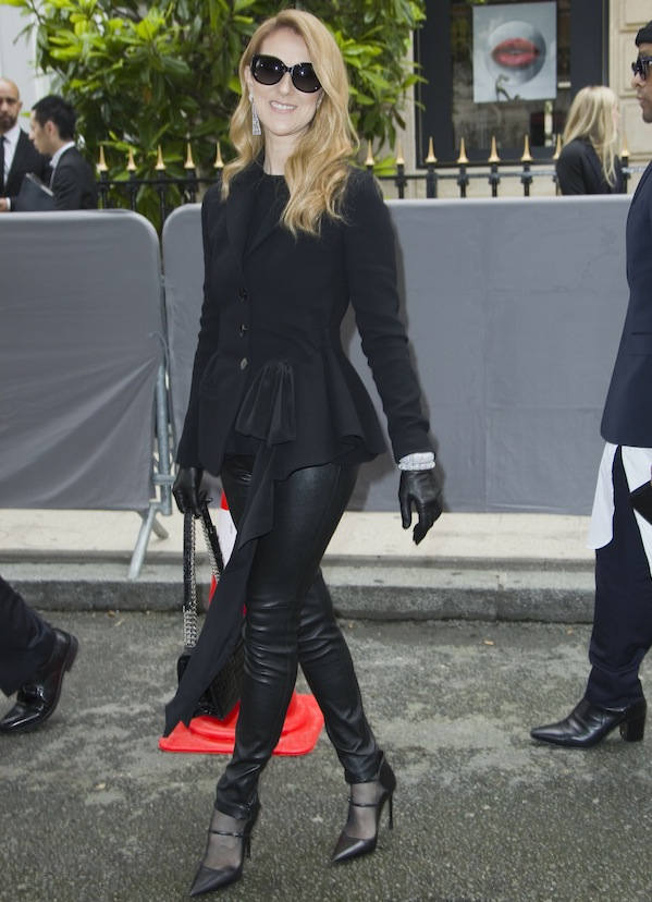 Céline Dion in all leather
