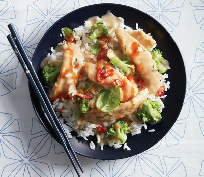 Stir fry recipes: coconut chicken and broccoli