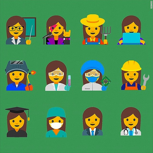 Lady emojis