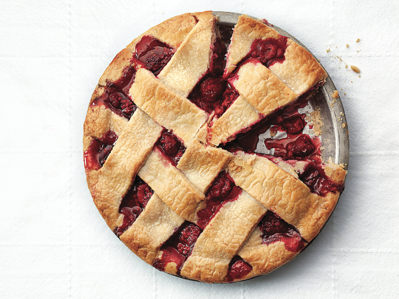 Summer pies: Raspberry lattice pie