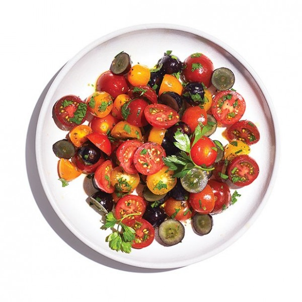 Tomato and grape summer salad