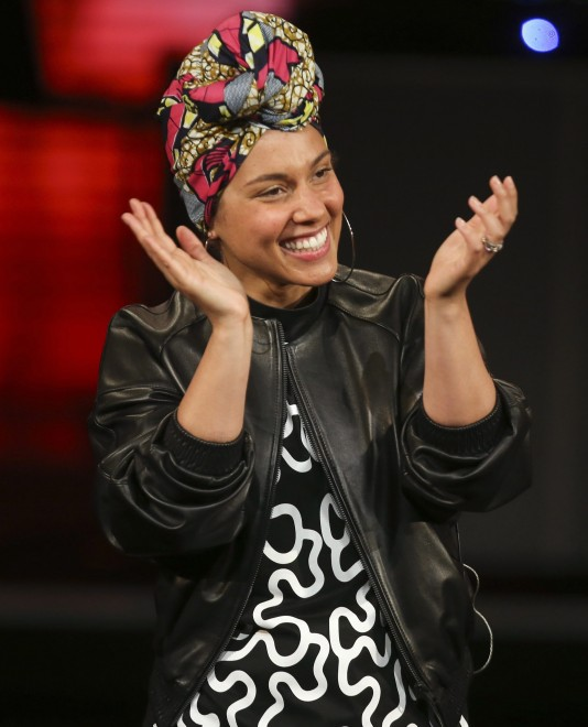 """FILE - In this May 23, 2016 file photo, singer Alicia Keys performs at the Italian State RAI TV program """"Che Tempo che Fa, in Milan, Italy. Keys and a host of other stars in music and movies, including Beyonce, Rihanna, Taraji P. Henson, Chris Rock and Pharrell, appear in a powerful video released Wednesday, July 13, that describes """"23 ways you could be killed if you are black in America."""" (AP Photo/Luca Bruno, File)"""