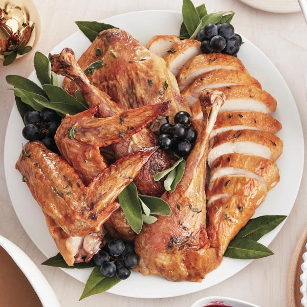 butterflied roast turkey with gravy - chatelaine