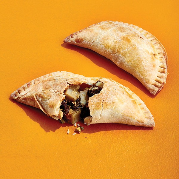 Raisin and potato empanadas