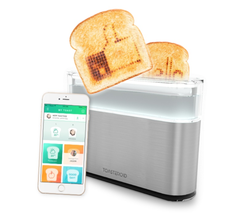 Kitchen tech: Toasteroid smart toaster.