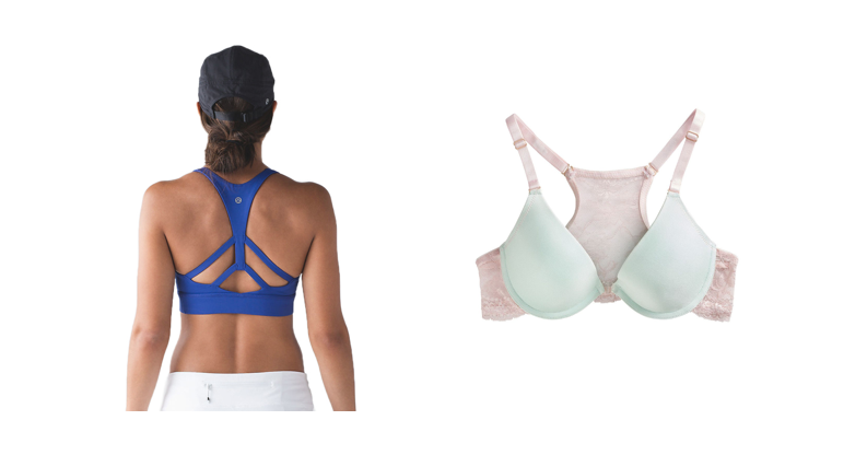 Back support for small bust bras