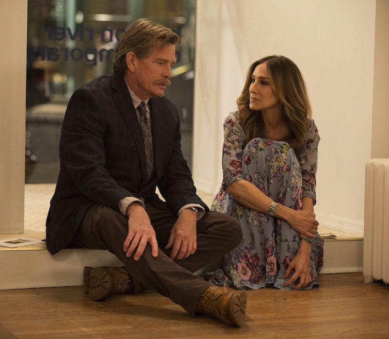 "This image released by HBO shows Thomas Haden Church, left, and Sarah Jessica Parker in s scene from ""Divorce."" (Craig Blankenhorn/HBO via AP)"