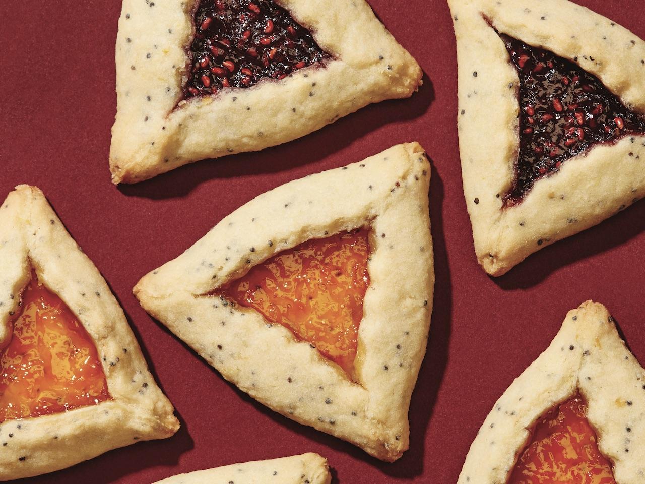 Hamantaschen cookies