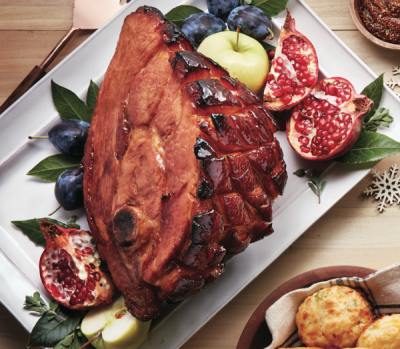 Holiday menus: Pineapple-ginger-glazed ham