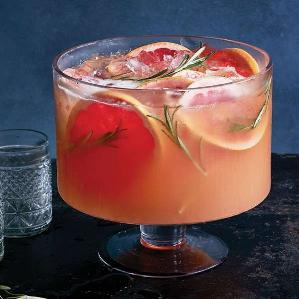 grapefruit sparkling punch bowl