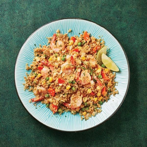 Shrimp-fried quinoa