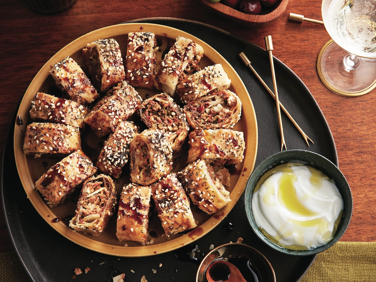 Turkish sausage rolls - make ahead cocktail party snacks