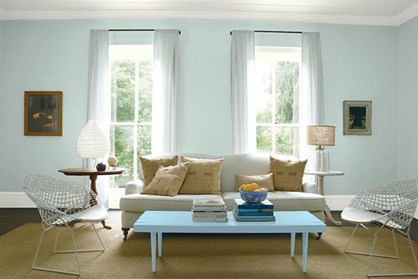 Blue Grey Powder Room