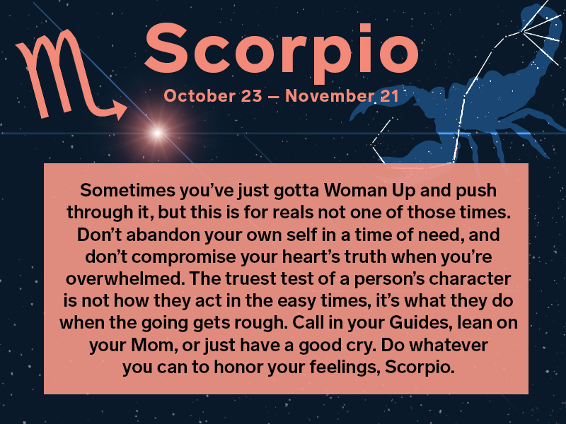 horoscope scorpio november 16 2019