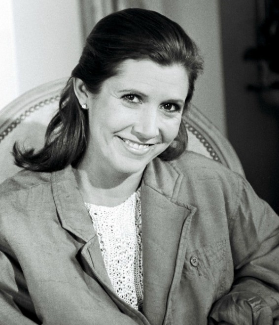 Fisher in 1986, the year before her book Postcards from the Edge was published.
